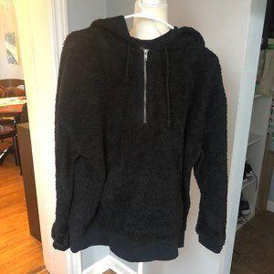 PacSun Faux Fur Fleece Jacket Black M